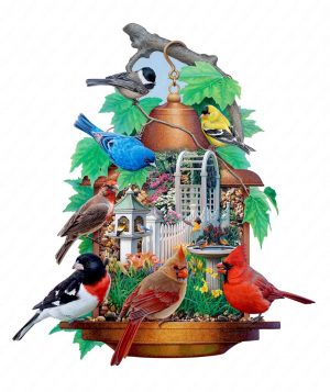 Songbird Feeder Puzzle Art