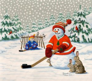 Hockey Player Snowman