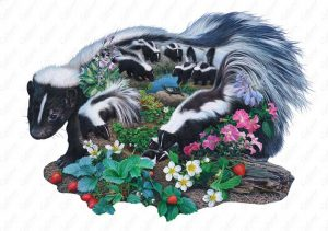 Skunk Family Puzzle Art