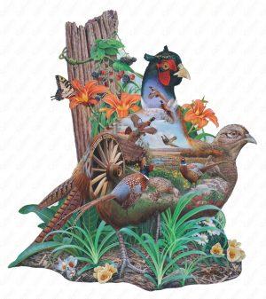 Pheasant Puzzle Art