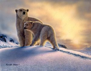 Arctic Dawn Polar Bears